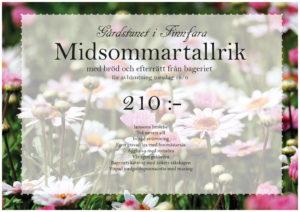 Midsommartallrik p åGårdstunet